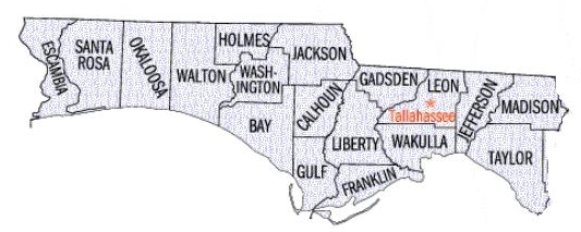 Northwest Florida including Brewton, Alabama